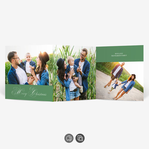 Christmas Accordion Photo Card