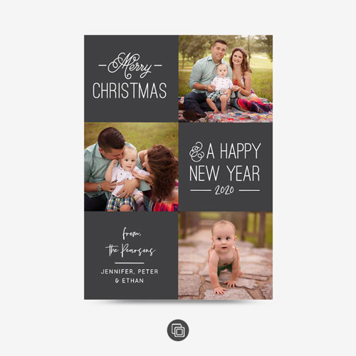 Simple 3 Photo Selfie Card 0488